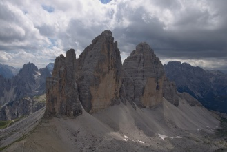 Tre Cime z vrcholu Paternkofel