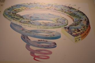 """Zajímavé zobrazení momentálně """"vědeckého"""" modelu vývoje Země"""