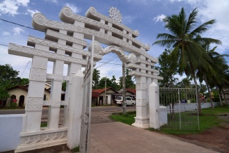 Brána k buddhistické dagobě