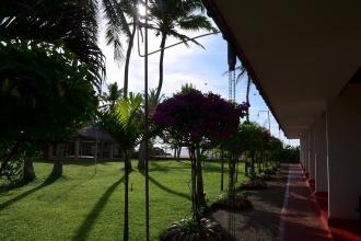 Pohled od pokojů Ceylonica beach hotel