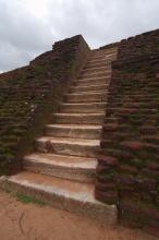 Vrchní terasy, už téměř u vrcholu.