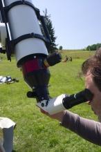 Pohled přes 150mm H-alfa je návykový.