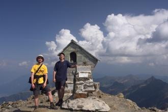 Vrcholové foto na Mt. Legnone.