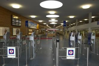 Vlakové nádraží v Täsch