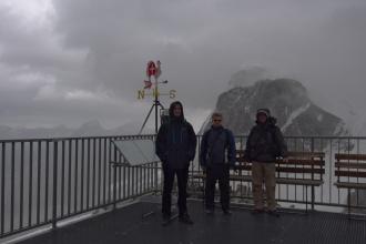 Společné foto na Klein Matterhornu.