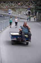 Ulice v městečku Zermatt.