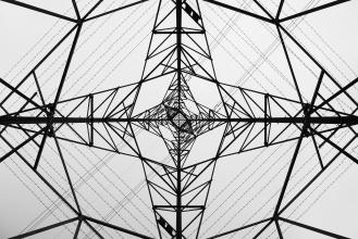 Obrazec ze stožáru elektrického vedení.