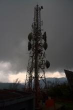 Jedna z vysílacích veží na Single tree hill.