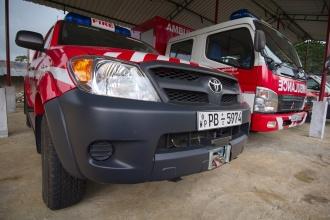 Výbava místních hasičů.