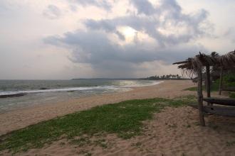 Pláže u Tangalle před večerem.