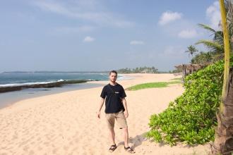 U pláží Tangalle ...