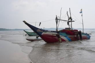 Rybáři ve Weligama.