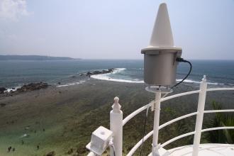 Pohled z vrchního ochozu majáku.