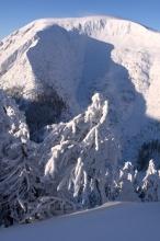 Při sestupu do Pece pod Sněžkou.