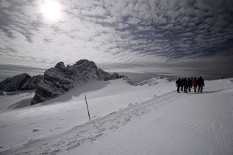 Ledovec na Dachsteinu.