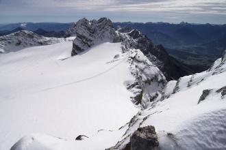 Pohled na chatku Seethalerhütte.