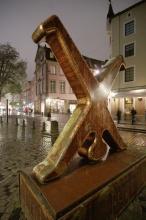 Noční putování centrem Dusseldorfu ...