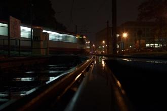 Vlako-metro na konečné, kdesi na západním cípu Dusseldorfu, kde jsme skončili po cestě naslepo.