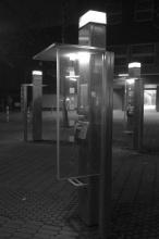 Telefonní budky v Dusseldorfu