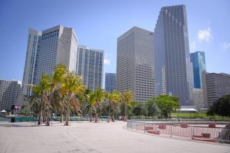 Nedaleko od centra Miami u břehu