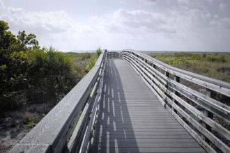 Cesta na pláže Key Biscayne.