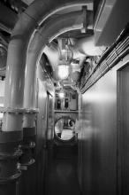 Uvnitř U-boote (Bremerhaven, Maritime muzeum)