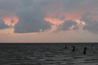 Západ u Cuxhavenu