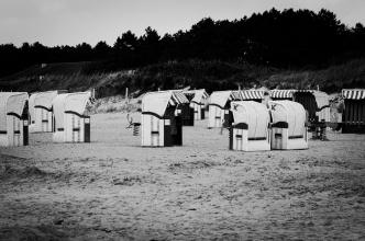 Západní pláže Cuxhavenu ...
