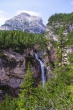 Hlavní vodopád Fanes.
