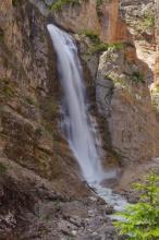 Spodní vodopád Fanes.
