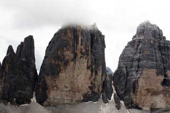 Rozhledy z vrcholu Toblinger Knoten - Tre Cime.