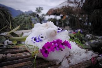 Vietnamská tvořivost ze sněhu :)