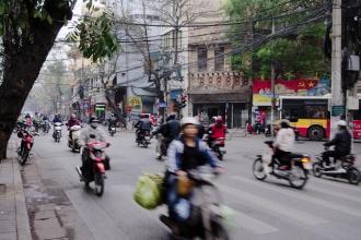 Ulice v Hanoji.