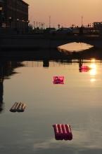 Plavební kanál v Terstu ...