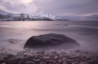 Západ Slunce u Grøtfjord - long exposure